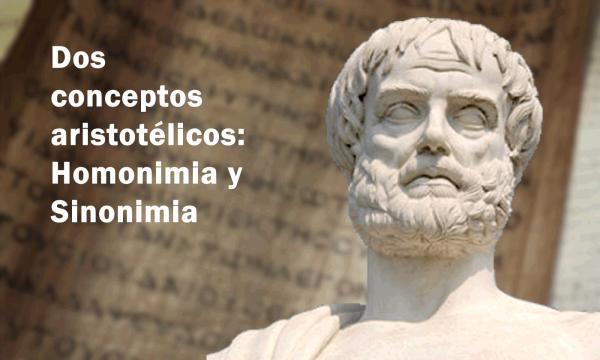Aristoteles homonimia y sinonimia