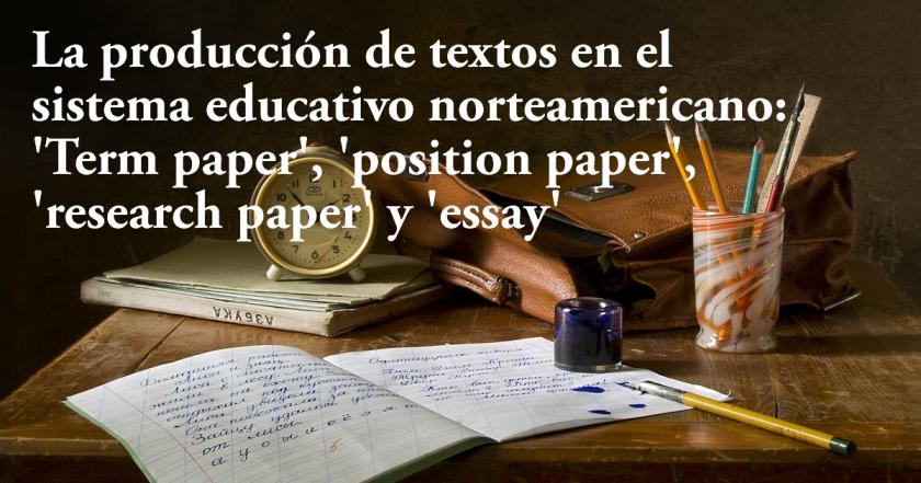 Producción de textos en sistema educativo estadounidense